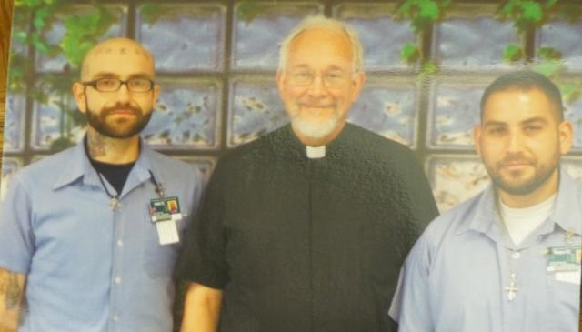 The Newly Baptized Michael Polycarp, Fr. Ted, Godfather Daryl